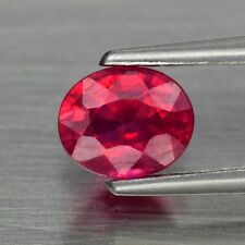 5x4mm Oval 1pc AAAAA Natural Rich Red Ruby, Mozambique