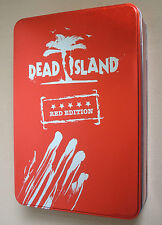 DEAD ISLAND RED EDITION Metal Case Xbox 360 extremely rare NO GAME EMPTY BOX