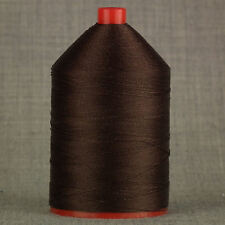 STRONG 60s BONDED NYLON 1,000mtr SEWING THREAD DARK BROWN LEATHER CRAFT REPAIR