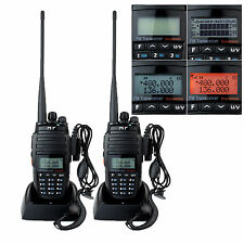 2* TYT TH-UV8000D walkie talkie VHF/UHF 2*128CH 10W 3600mAh PMR446 2-way radio