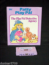 PATTY PLAY PAL DOLL BOOK/TAPE THE PLAY PAL DETECTIVE AGENCY 1987 WORKS