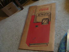 Vintage COCA-COLA coke EARLY MACHINE BOX SIDE great art of machine