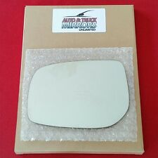 NEW Mirror Glass + ADHESIVE 06-11 TOYOTA YARIS SCION xD Driver Left Side LH