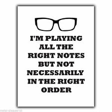 MORECAMBE AND WISE QUOTE I'm playing all the right notes METAL WALL SIGN PLAQUE