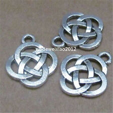 15pc Tibetan Silver Charms Chinese knot Pendant Beads Jewellery Making PL435