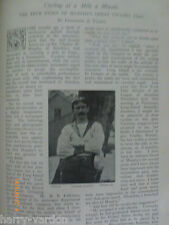 Old Illustrated Article 1900 Cycling Bicycle Bicycling Mile Minute Brooklyn USA