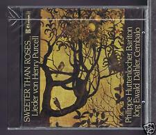 HENRY PURCELL CD NEW SWEETER THAN ROSES/ PHILIPPE HUTTENLOCHER