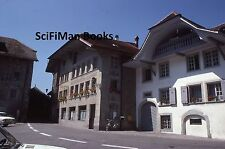 KODACHROME 35mm Slide Switzerland Fribourg Auberge De L'Ange Old Cars Moped 1977