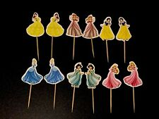 12 X Disney Princess Cake Picks / Cupcakes Toppers Flags Party Decorations 76432