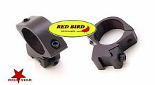 3/8 DOVETAIL 11mm WEAVER MEDIUM BLACK SCOPE RINGS AIRGUN 10/22 RUGER MARLIN 1022