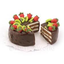 Casa De Muñecas Chocolate Miniatura Tarta De Kiwi