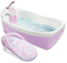 Summer Infant Lil Luxuries Whirlpool Bubbling BABY SPA SHOWER TUB, 18873, Violet