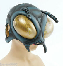 Fly Bug Alien Insect Latex Rubber Overhead Costume Fancy Dress Halloween Mask BN
