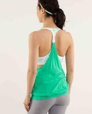LULULEMON-KELLY GREEN *PRACTICE FREELY* ATTACHED BRA~YOGA~CrossFit TANK TOP~6