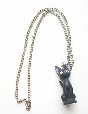 "2.25"" Kiki's Delivery Service Jiji the Black Cat with Necklace"
