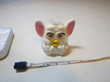Furby Mcdonals plastic toy White makes sound noise 1999 Tiger electronics McD.