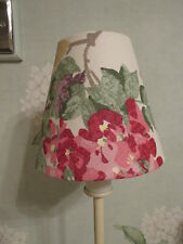 Handmade Candle Lampshade Laura Ashley Wisteria fabric Cranberry