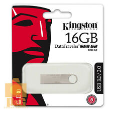 New Kingston 16GB DataTraveler SE9 G2 USB 3.0 Flash Pen Drive Memory Keychain