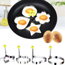 Stainless Steel Kitchen Cooking Fried Egg Pancake Ring Mold Shaper  Love Heart