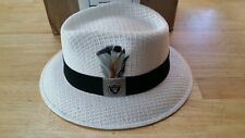 MENS LARGE RAIDERS LOWRIDER HAT FEDORA VINTAGE ROCKABILLY RAT ROD