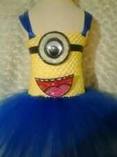 minion inspired princess Tutu dress 2T-5T kids tea length