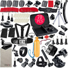 70in1 Pole Head Chest Mount Strap GoPro Hero 2 3 4 5 Camera Accessories Set Kit