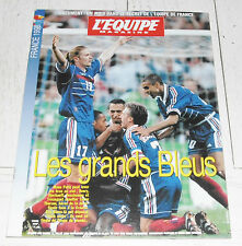 EQUIPE MAGAZINE N°848 1998 FOOTBALL COUPE DU MONDE FRANCE 98 1/2 FINALE CROATIE