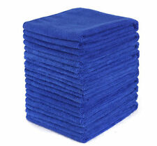 10PCS Microfiber Towel Car Home Kitchen Washing Clean Wash Cloth Blue