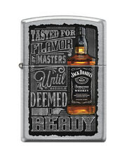 Zippo 1601, Jack Daniels Tennessee Whiskey Old No. 7, Street Chrome Lighter