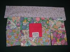 10 Vtg 90s Mixed Easter Decor Cotton Fabric Samples Up To Fat Quarter Size #k31