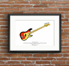 Duck Dunn's 1958 Fender Precision Bass ART POSTER A3 size