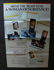 A WOMAN OF SUBSTANCE 1980's ORIGINAL VHS VIDEO MOVIE POSTER