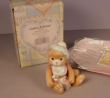 Enesco Calico Kittens figurine Bundle of Love MIB #628433 Cat NOS 1992 baby boy