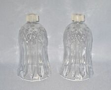 2 Tiffany Clear Glass Candle Sconce Votive Holder Cups Home Interiors Homco