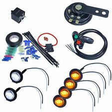 LED Turn signal kit with 4way & horn for ATV scooter moped 4x4 fourwheeler quad