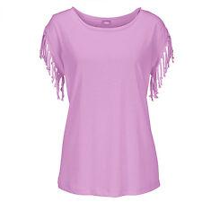 Summer Women's Tops Blouse Short T-shirt Tassel Summer Casual Tee Shirts Clothes