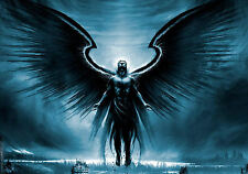 Framed Print - Gothic Dark Angel Rising up into the Sky (Picture Poster Art)