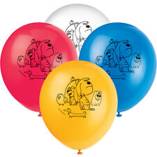 THE SECRET LIFE OF PETS LATEX BALLOONS (8) ~ Birthday Party Supplies Decorations