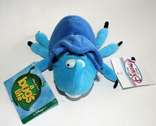 "NEW Disney Store Pixar A BUG'S LIFE 7"" BLUE DIM BEETLE bug plush bean bag doll"