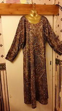 Plus Size 30-32 Fabulous animal Print Quirky Maxi Dress to fit 1647 Size 5