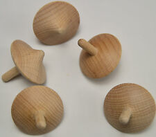 Single Wooden Spinning Top toy craft hand turned vintage school hobby wood