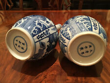 A Pair Chinese Blue and White Porcelain Vases, Marked.