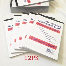 "Lot Of 12 Sales Order Book Receipt Book 50 Duplicate Forms 5.5""x8"" Wholesales"