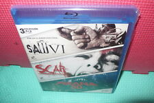 SAW VI - PIRAÑA 3D - SCAR - 3 PELIS - BLU-RAY