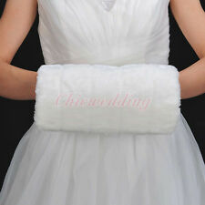Fashion Faux Fur Hand Muff Off white Bridal Wedding Warm Kids Handmuff