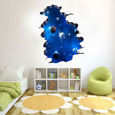 3D Galaxy Wall Sticker Decals Ceiling Home Decor PVC Removable Vinyl Art CA