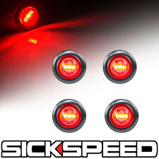 4 PC RED LED LIGHT/LENSE ROUND SIDE MARKER TURN SIGNAL LED LIGHT KIT P3