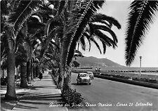 Cartolina - Postcard - Diano - Corso XX Settembre - auto d'epoca - 1957