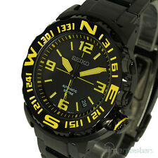 MEN'S SEIKO SUPERIOR MONSTER AUTOMATIC BLACK FACE YELLOW MARKERS SRP449K1
