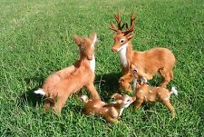 Realistic Lifelike Deer Family Four Piece Rabbit/Goat Fur Furry Animal Dr499